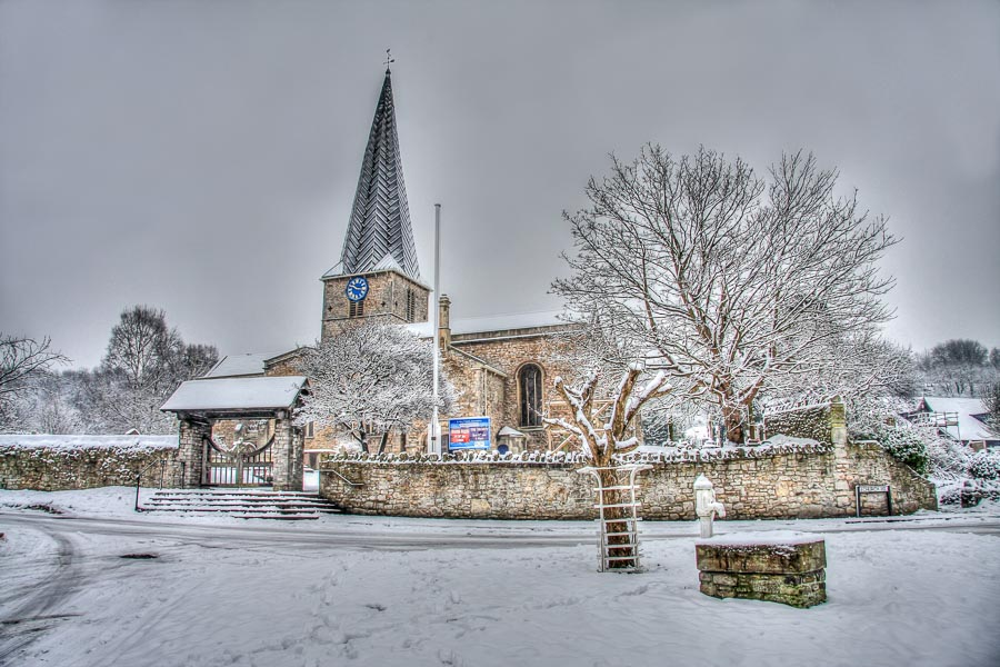 St Mary's Snow HDR