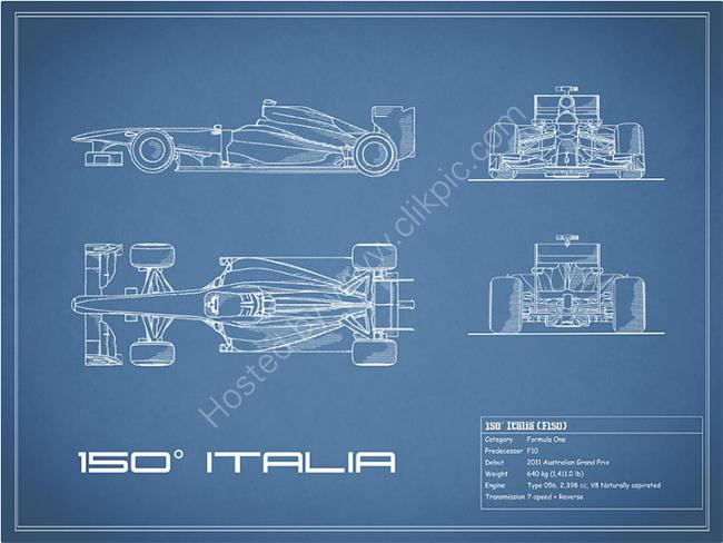 The 150 Italia GP Blueprint