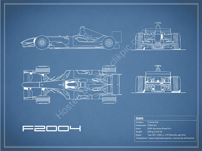 The F2004 GP Blueprint