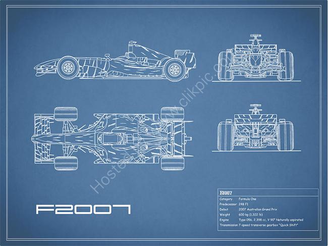 The F2007 GP Blueprint