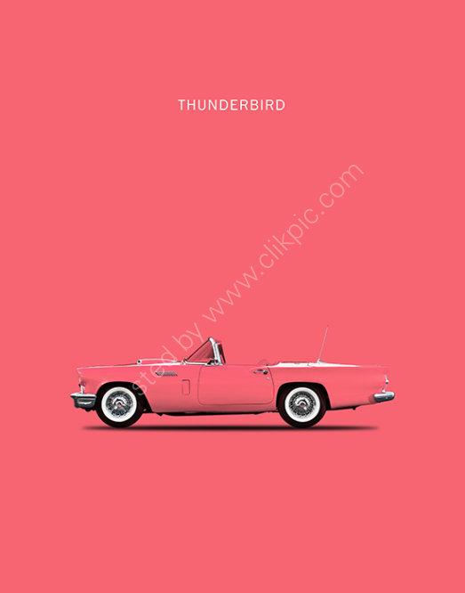 Ford Thunderbird 1957 Pink
