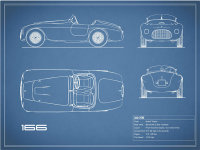 The Ferrari 166 MM Blueprint