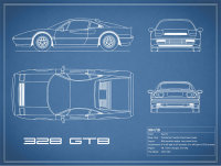 Ferrari 328 GTB Blueprint