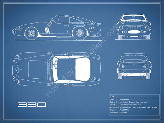 Ferrari 330 Blueprint