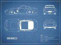 Ferrari 330 Blueprint