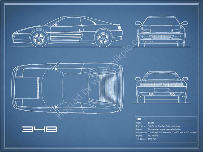The Ferrari 348 Blueprint