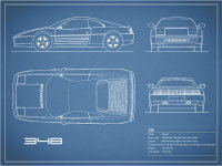 The Ferrari 348 Blueprint