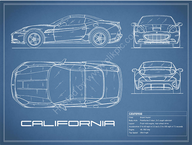 The Ferrari California Blueprint