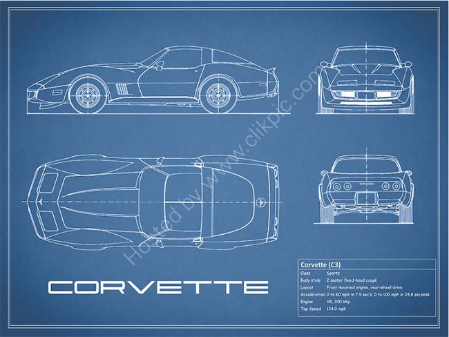 Corvette C3 Blueprint