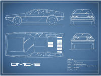 The Delorean DMC-12 Blueprint