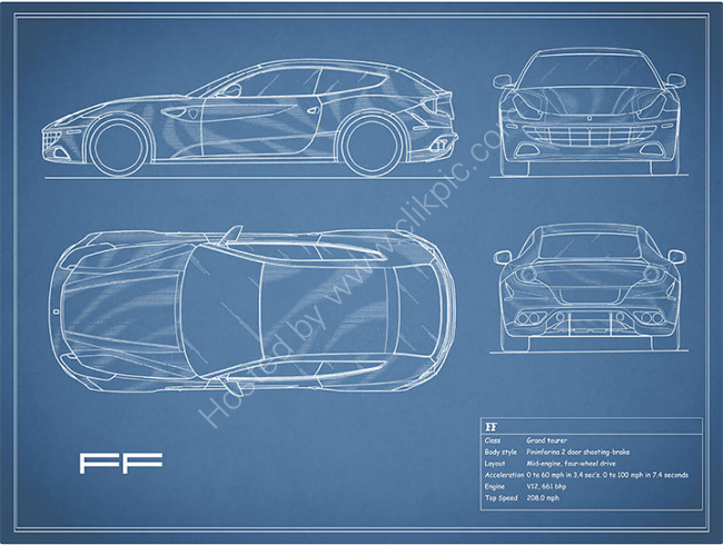 The Ferrari FF Blueprint