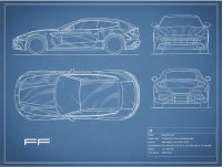 The Ferrari FF Blueprint