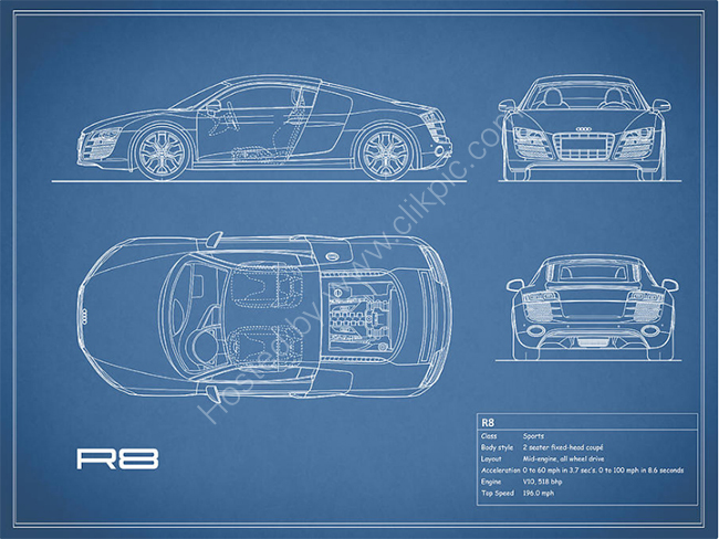 Audi R8 Blueprint
