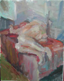 Large reclining Nude.