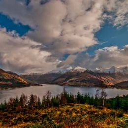 A view of the Five Sisters Scotland