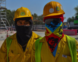 Thai construction workers