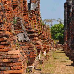 Ancient brick  pillars