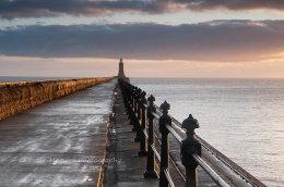 Tynemouth pier at dawn