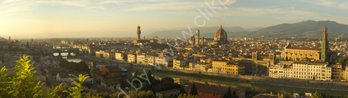 Panorama over the beautiful Italian city of Florence