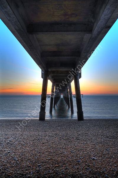 Beneath Deal Pier at Sunrise