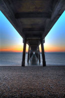 Beneath Deal Pier at Sunrise
