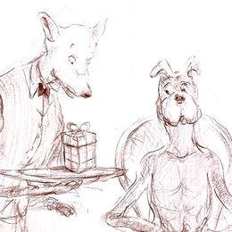 Dining Dog