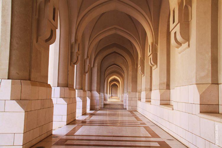 Corridor at Muscat Palace