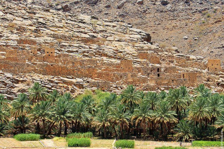 Abandoned village in Wadi Ghul
