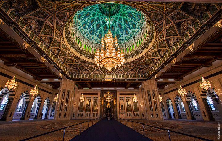 Inside Sultan Qaboos Grand Mosque