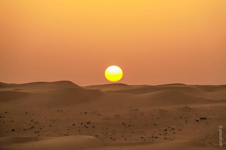 Sunset at Sharqiya sands desert-Oman