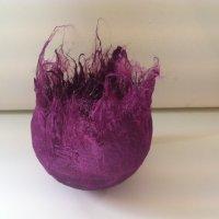 Dark Purple Tussah Silk Vessel