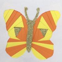 Butterfly Iris folding paper craft technique