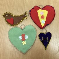 Fabric key rings by Pink house Craft Club