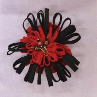 Fabric felt flower brooch