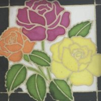 silk painting greetings cards by Pink House Craft Club