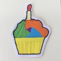 Yummy cupcake greeting card