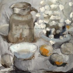 Still Life with Jug and Citrus