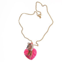Agate Heart Necklace £290