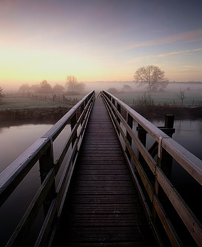 A Frosty Morning, Eyebridge, River Stour