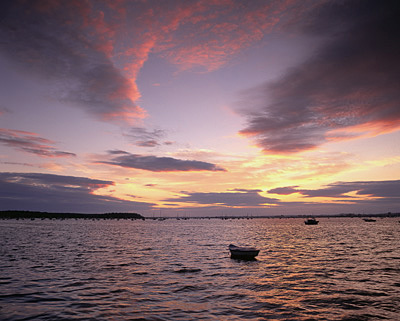 Pink skies over Poole Harbour No 1