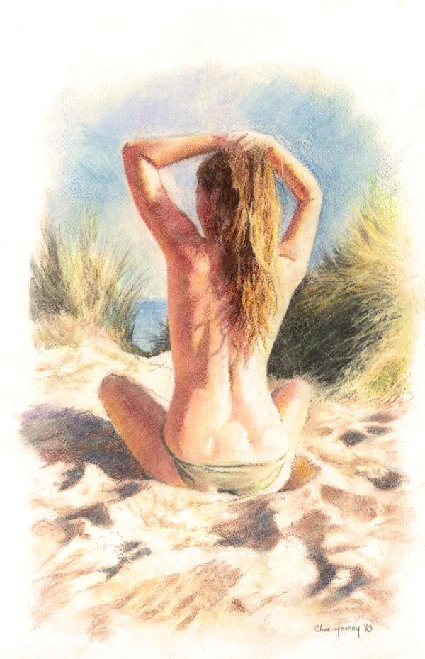 Girl on Studland Beach SOLD
