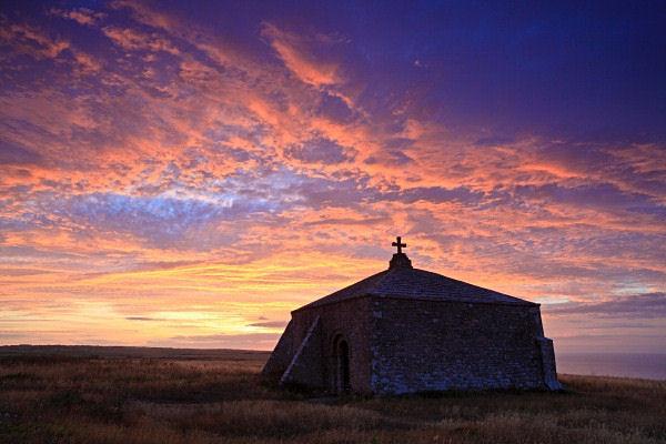Summer Sunrise, St Adhlams Chapel