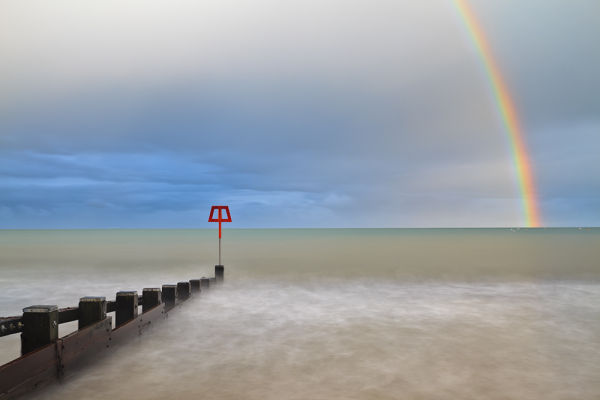 Rainbow over Swanage Bay