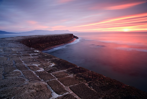 Winter Sunrise, the Cobb, Lyme Regis