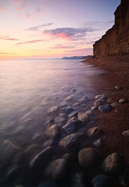 Winter Sunset, Burton Bradstock