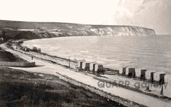 Bathing Machines, Swanage Beach (1875 - 1880)
