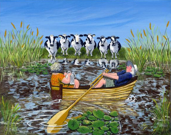 Can Cows Swim SOLD