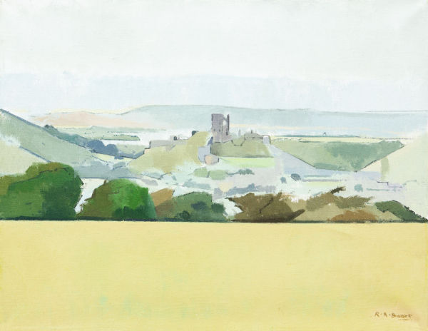 Corfe Castle from Kingston