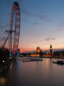 The London Eye, Dusk