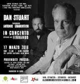Concert poster for Dan Stuart and Antonio Gramentieri.